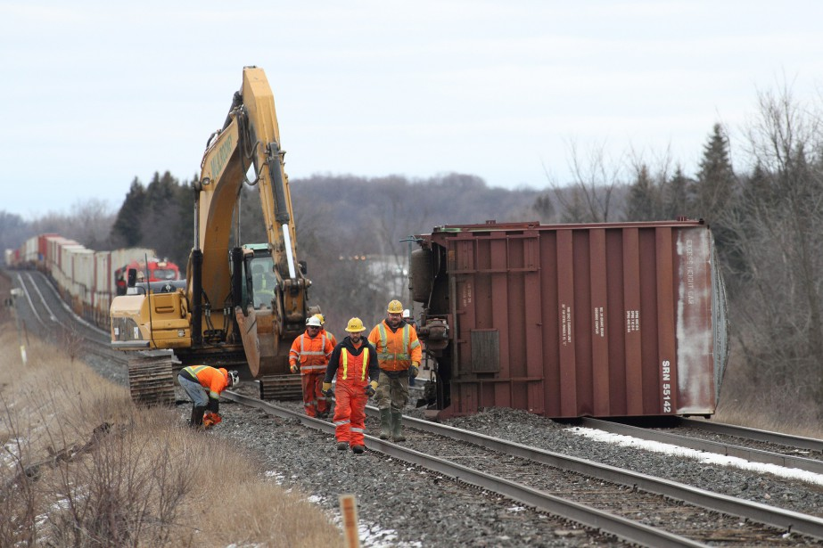 Deux wagons placés à la fin d'un convoi... (Photo La Presse canadienne)