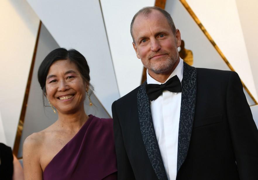 Woody Harrelson et sa femme Laura Louie. (AFP)
