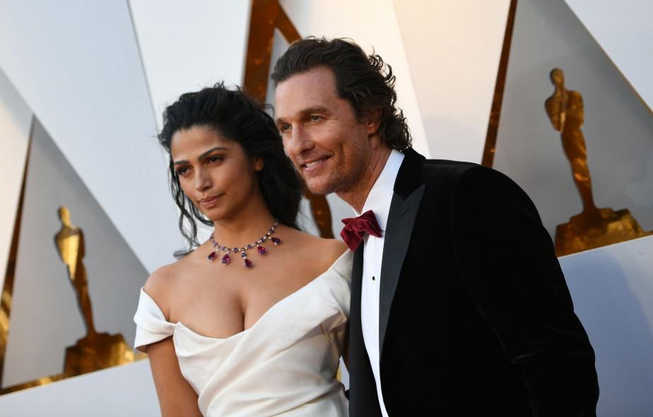 Matthew McConaughey et sa femme Camila Alves. | 4 mars 2018
