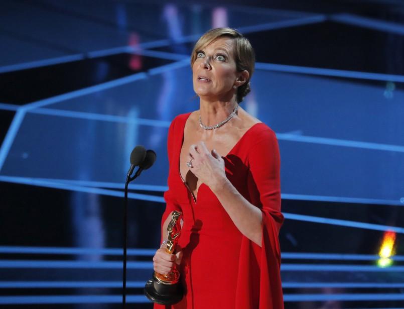 Allison Janney a remporté l'Oscar du meilleur second rôle féminin pour son interprétation dans <em>I, Tonya</em>, où elle incarne la mère abusive de la patineuse Tonya Harding. (REUTERS)