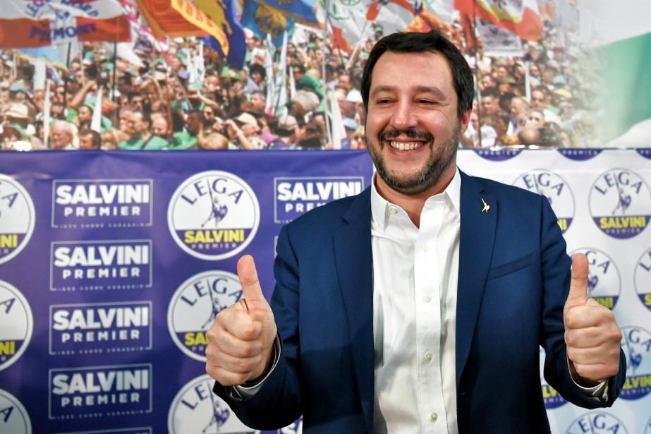 Matteo Salvini (photo) a précisé qu'il parlerait «dans... (Photo Piero Cruciatti, Agence France-Presse)