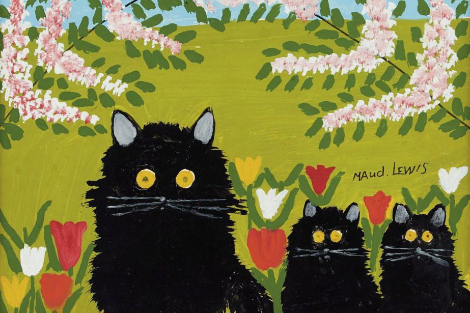 L'oeuvre Three Black Cats deMaud Lewis a été... (Photo La Presse Canadienne)