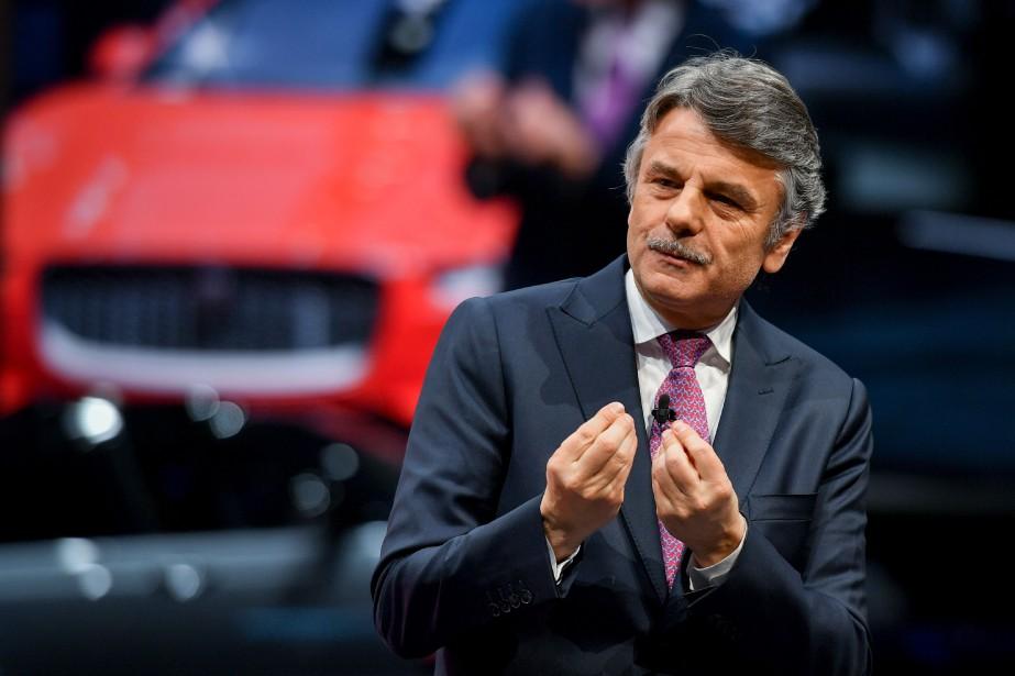 Le PDG Ralf Speth a présenté l'I-Pace lors du premier jour de l'avant-première médias du Salon de l'auto de Genève. (AFP)