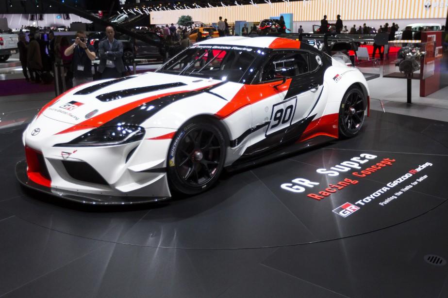 Le prototype Toyota GR Supra Racing donnera naissance à la nouvelle Supra d'ici peu. (AP)