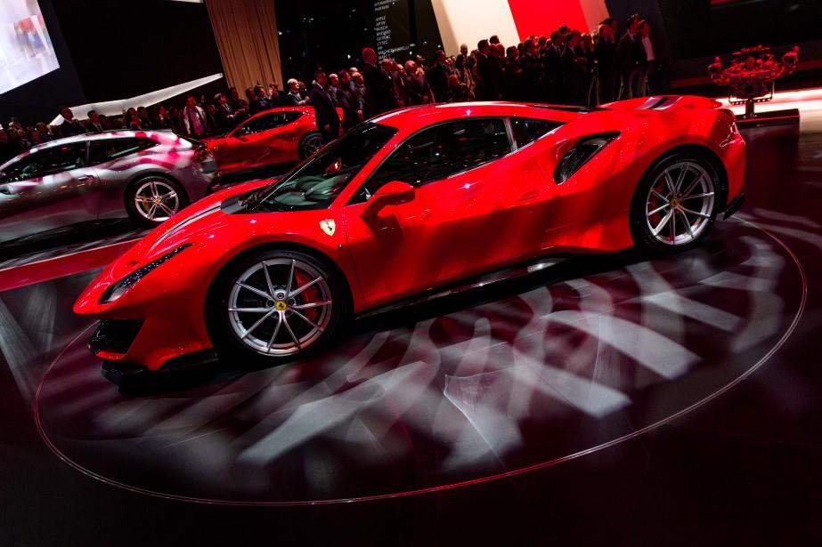 La Ferrrari 488 Pista fait le 0-100 km/h en moins de 3 secondes, promet Ferrari. (AFP)