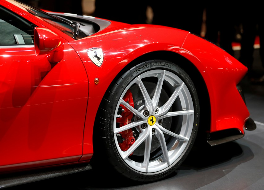 La Ferrari 488 Pista. (REUTERS)