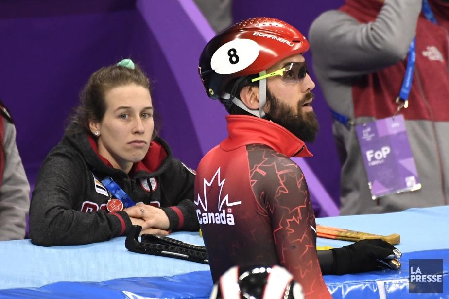 Marianne St-Gelais et Charles Hamelin aux Jeux olympiques... (Photo Bernard Brault, La Presse)