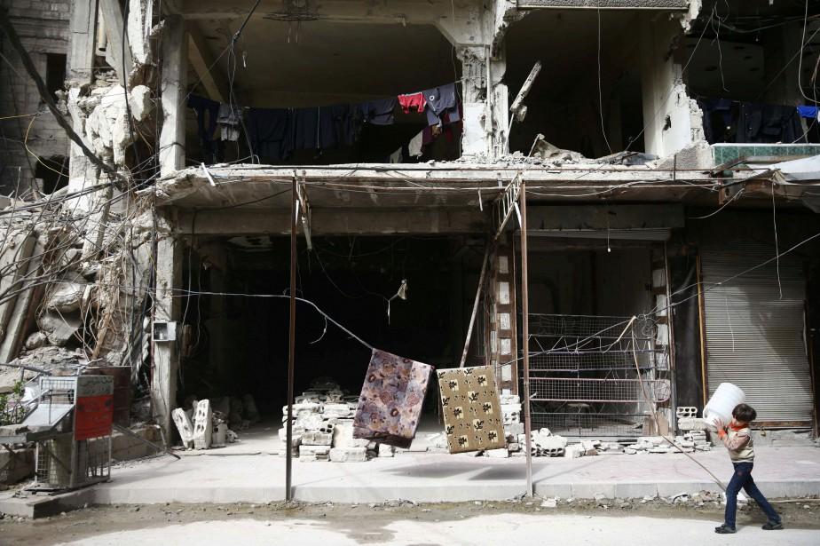 Plus de 940 civils, dont environ 200 enfants,... (Photo Bassam Khabieh, Reuters)
