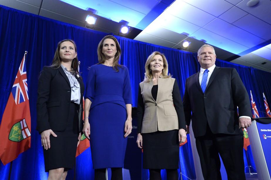 Les candidat à la direction du Parti conservateur... (PHOTO Justin Tang, LA PRESSE CANADIENNE)