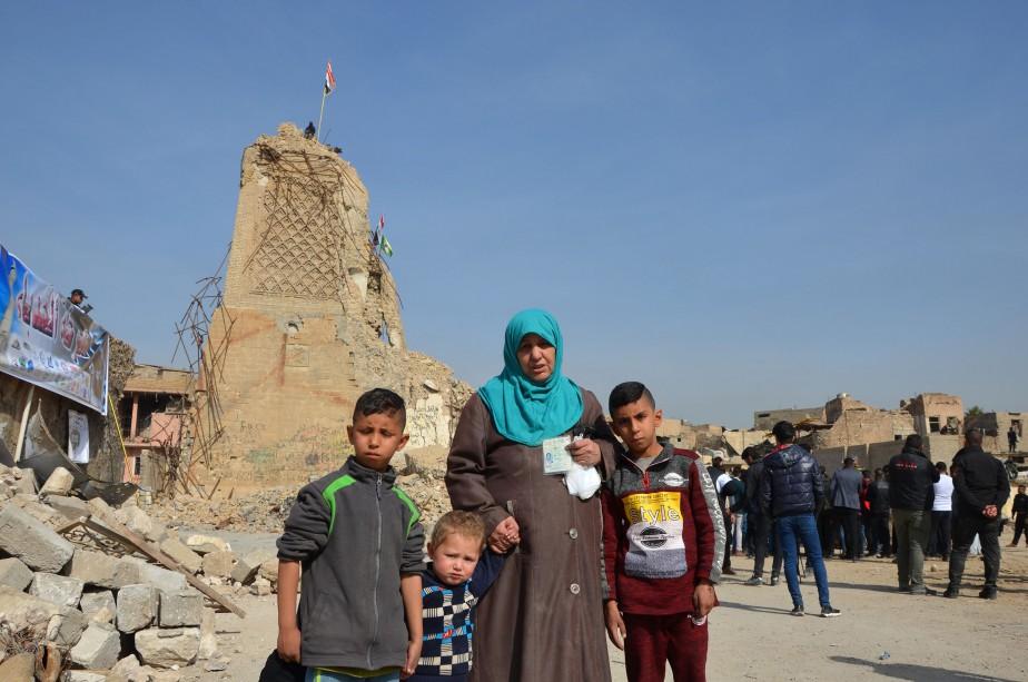 L'emblématique mosquée Al-Nouri et son minaret penché du... (PHOTO AFP)