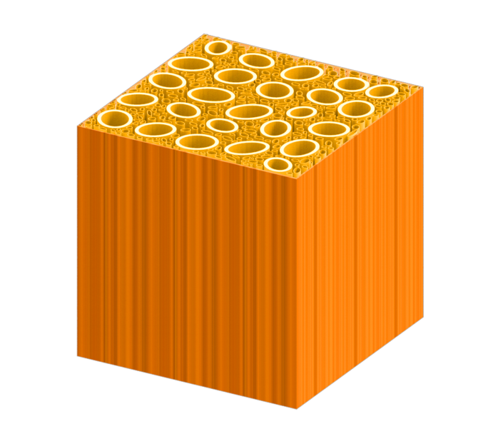 Représentation du bois après son traitementdans une solution bouillante d'hydroxyde de sodium et de sulfite de sodium. | 12 mars 2018