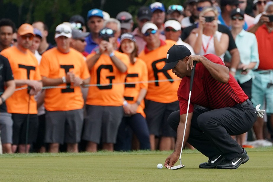 Tiger Woods a terminé à un coup du vainqueur... (Photo Jasen Vinlove, USA Today Sports)