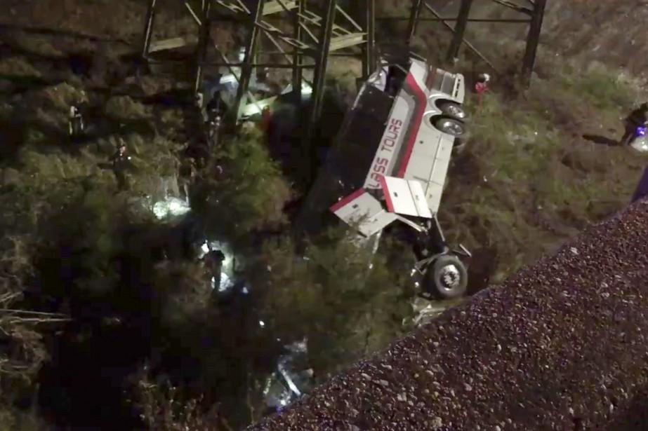 Le véhicule, qui avait été nolisé par la... (Photo Jesus Tejada, Associated Press)