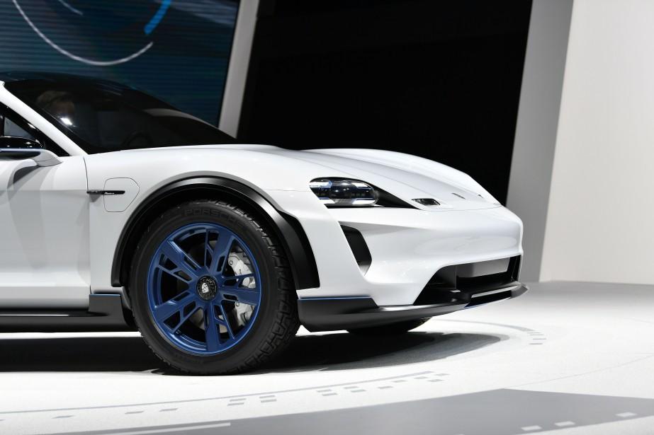 Le Porsche Mission E Cross Turismo. (AFP)