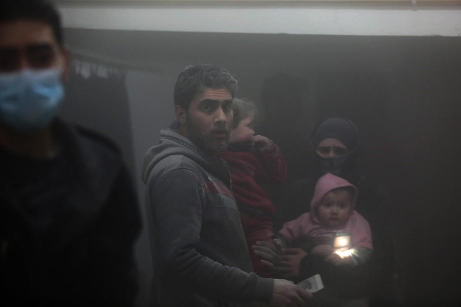 Les 400 000 habitants de l'enclave rebelle vivent... (Photo Amer Almohibany, Agence France-Presse)