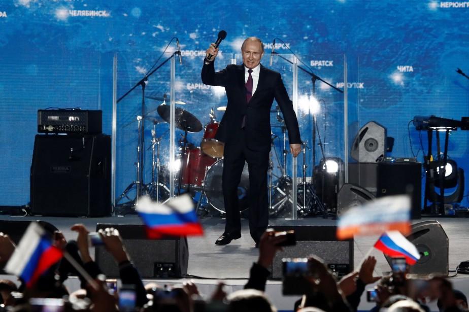 Le président russe a livré mercredi un discours... (PHOTO REUTERS)