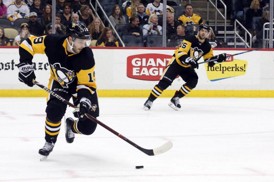 Derick Brassard (19) a été échangé aux Penguins... (PhotoCharles LeClaire, USA TODAY Sports)