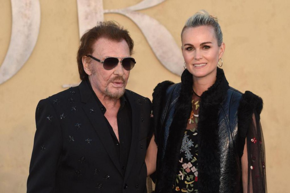 Johnny Hallyday et sa femme Laeticia en mai 2017.... (Photo Chris Delmas, archives Agence France-Presse)