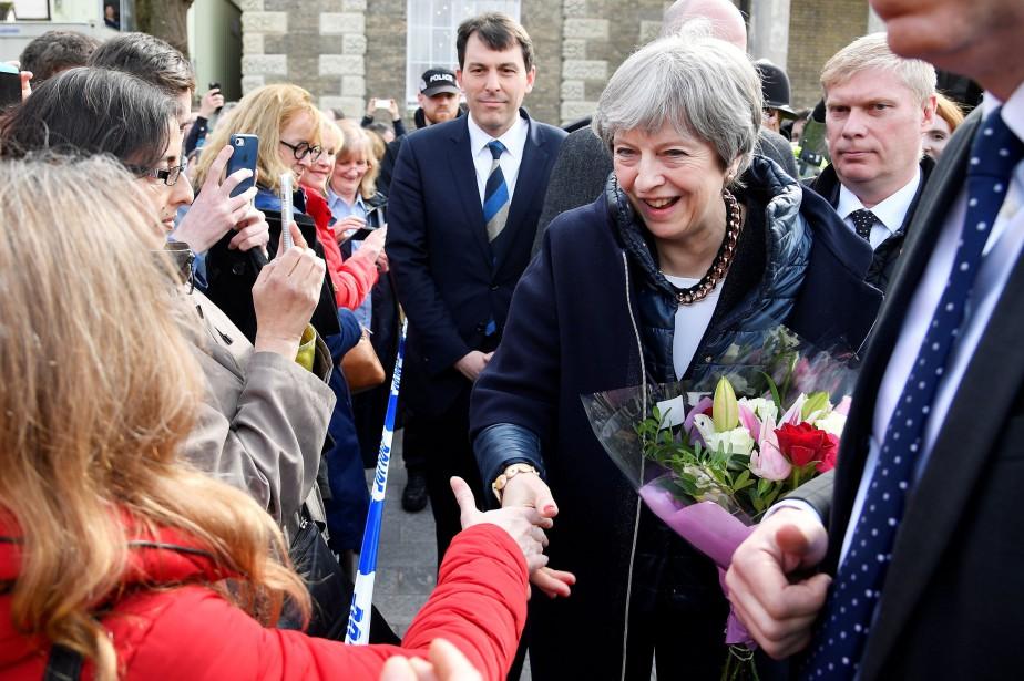 En visite pour la première fois à Salisbury... (PHOTO AFP)