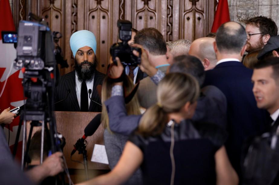 Jagmeet Singh accepteles conclusions de l'enquête canadienne sur... (Photo Blair Gable, REUTERS)