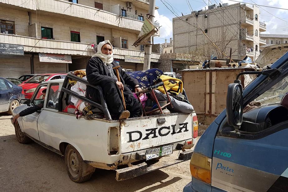 La ville d'Afrine est désormais quasi encerclée, à... (PHOTO AGENCE FRANCE-PRESSE/STRINGER)