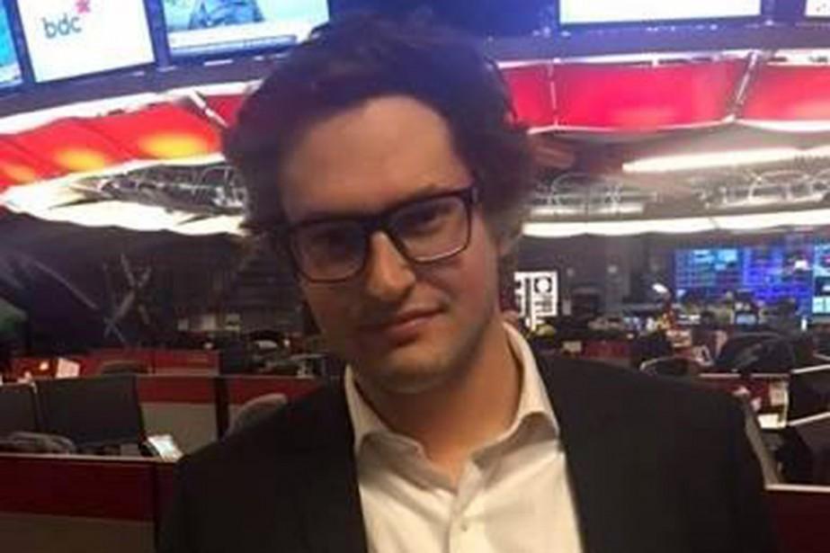 Le journaliste Antoine Trépanier, de Radio-Canada....