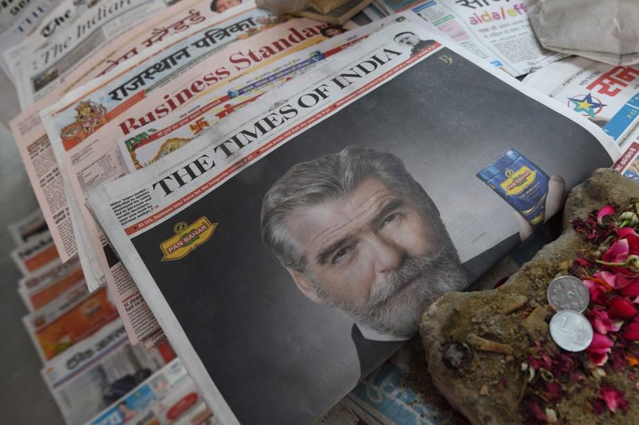 Une publicité du produit Pan Bahar à la... (Photo archives AFP)