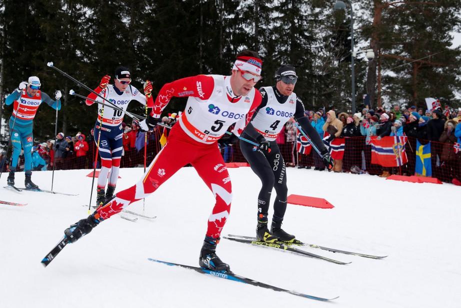 Alex Harvey (5)et les trois autres Canadiens en... (Photo Terje Bendiksby, archives Reuters)