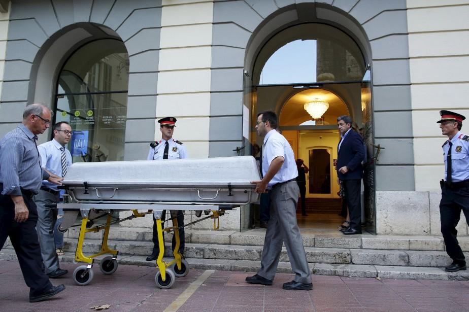 Fin juillet, la justice avait ordonné l'exhumation du... (Photo archives AP)