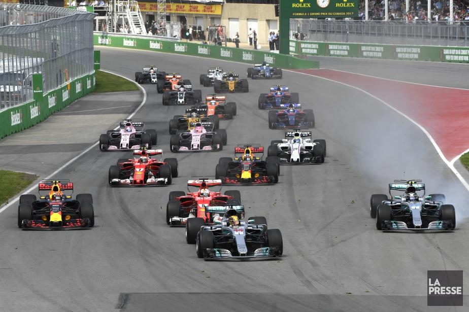 Le circuit Gilles-Villeneuve, peu après le départ du... (Photo Bernard Brault, La Presse)