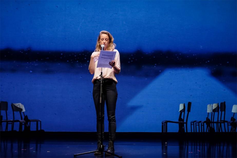 Christine Beaulieu dans J'aime Hydro ... (Photo Pierre Antoine Lafon Simard, fournie par les Productions Porte-Parole)