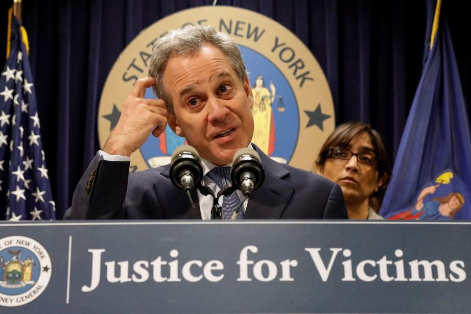 Le procureur de l'État de New York,Eric Schneiderman.... (PHOTO REUTERS)