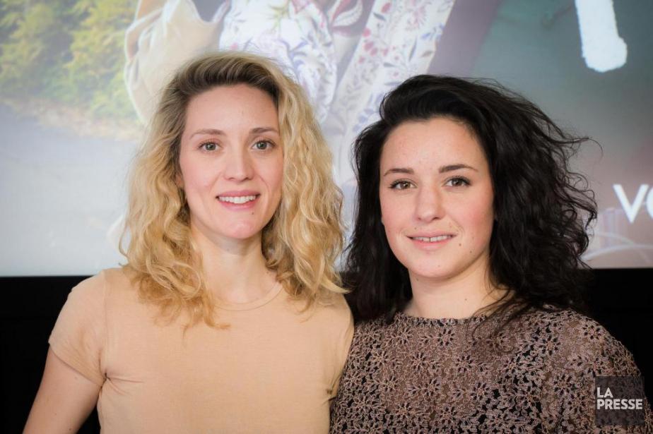 Les comédiennes ÉvelyneBrochu et Virginie Fortin sont les... (PHOTO EDOUARDPLANTE-FRÉCHETTE, LA PRESSE)