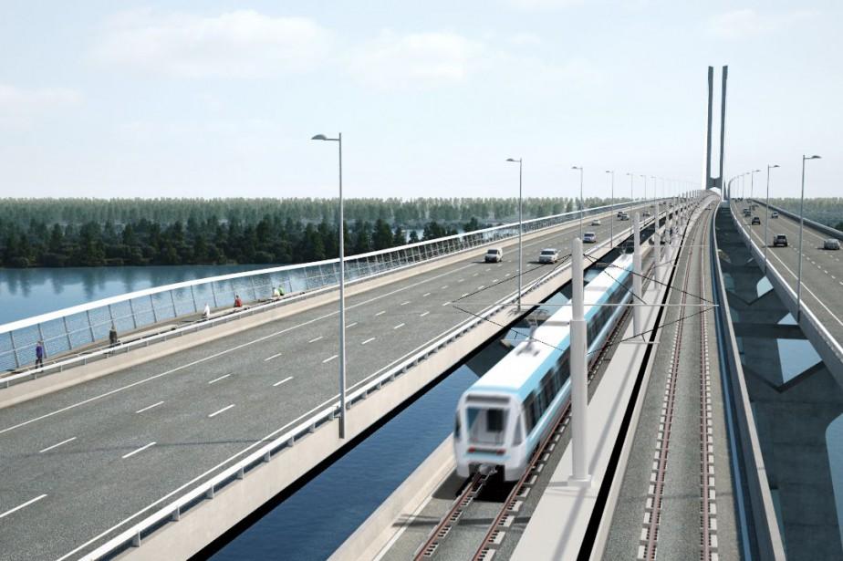 Le Réseau express métropolitain (REM) de la Caisse... (PHOTO FOURNIE PAR LA CDPQ)