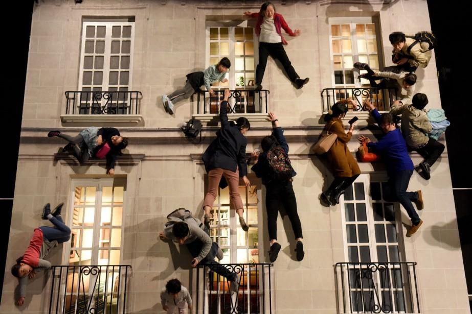 Dans L'immeuble (El Edificio), les visiteurs d'une dizaine... (Photo AFP)