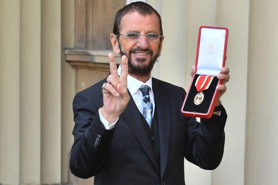 Ringo Starr, 77 ans, s'est fait adouber par... (Photo AFP)