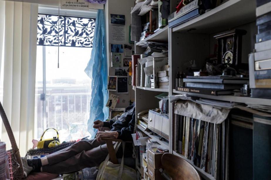 Jocelyne (nom fictif)est atteinte du trouble d'accumulationcompulsive (TAC),... (Photo Edouard Plante-Fréchette, La Presse)