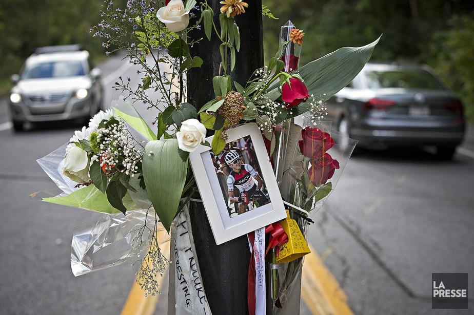 Le décès du cycliste Clément Ouimet, survenu sur la voie