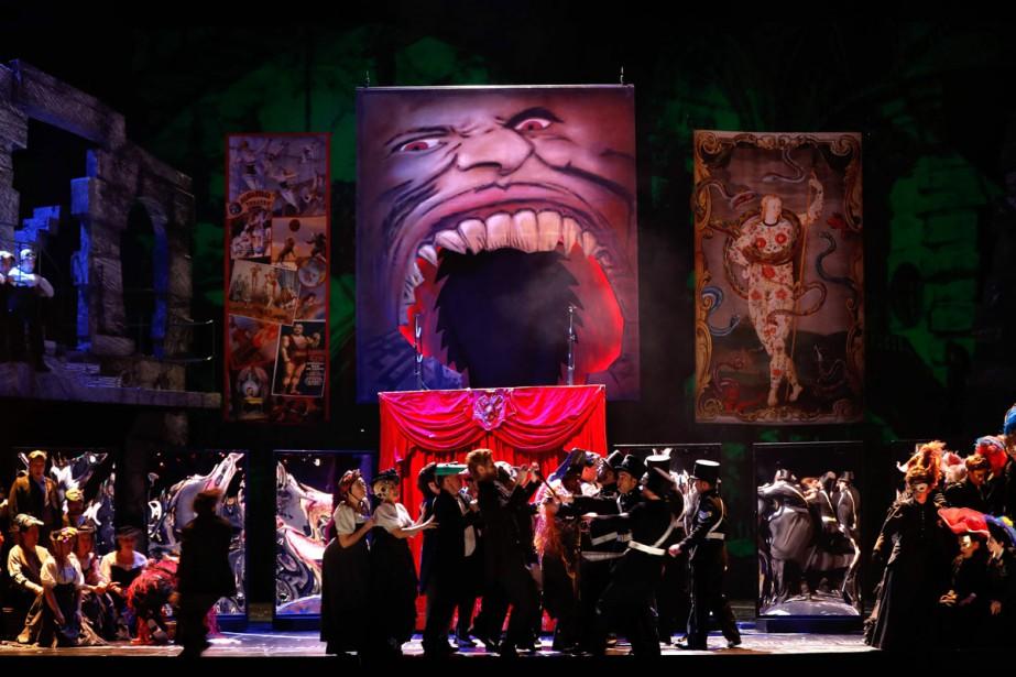 La première parisienne de l'opéra Benvenuto Cellini de... (Photo AFP)