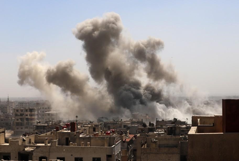 Le régime syrien veut reconquérir la Ghouta pour... (PHOTO AFP)