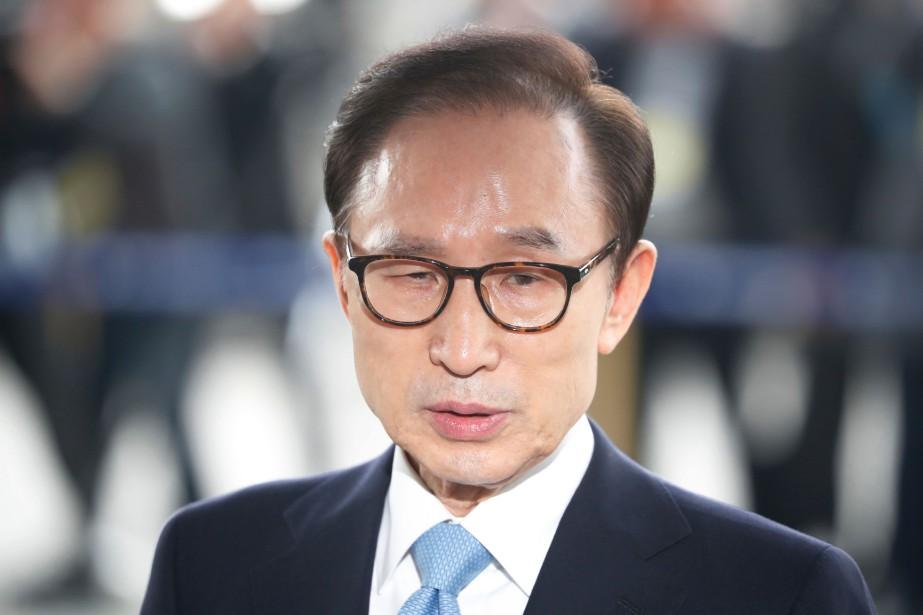 L'ex-président Lee Myung-bak, qui nie la plupart des... (Photo Kim Hong-Ji, Agence France-Presse)