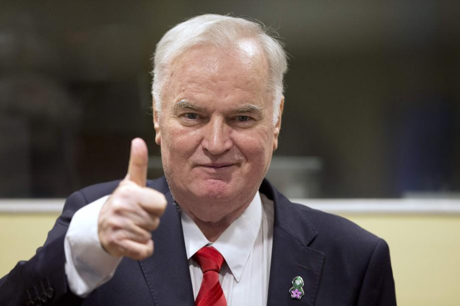 Ratko Mladic, 75 ans, a été reconnu coupable... (Photo Peter Dejong, Agence France-Presse)