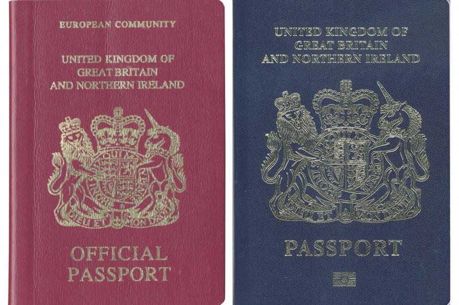 Les futurs passeports britanniques abandonneraient la couleur bordeaux... (PHOTO AFP)