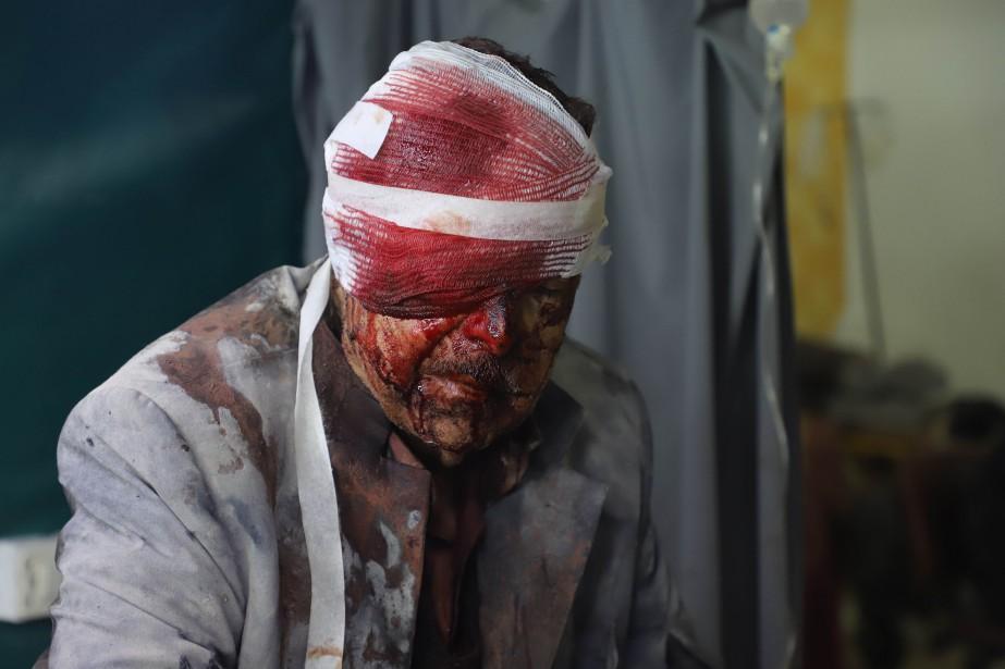 Au moins 38 civils avaient été tués jeudi... (Photo Amer Almohibany, Agence France-Presse)