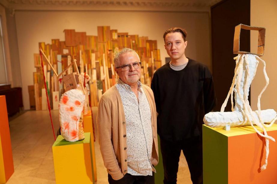 Le sculpteur d'installations contemporaines Serge Murphy (à gauche)... (Photo André Pichette, La Presse)