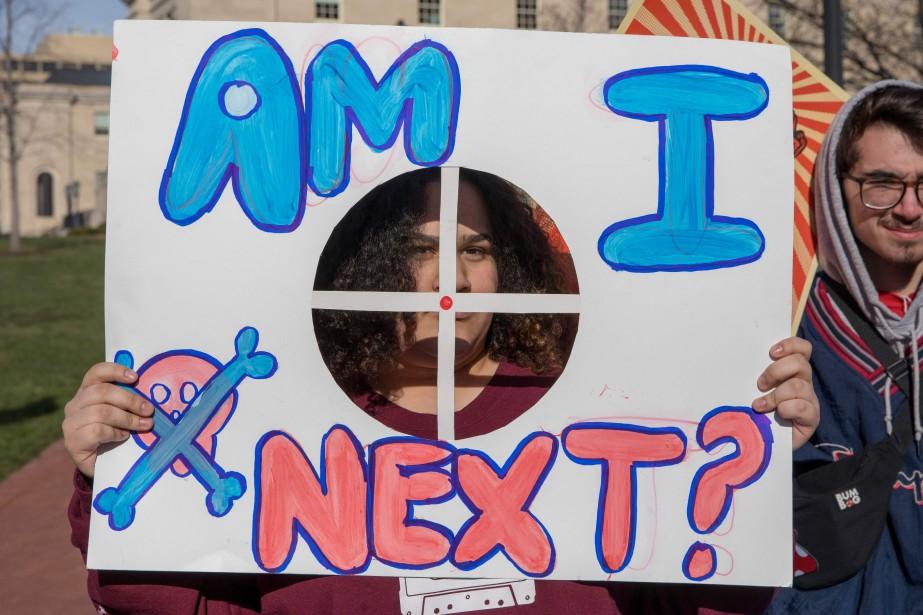 Au rallye deWashington, une élève de Baltimore demande si elle sera la prochaine victime des armes à feu. | 24 mars 2018