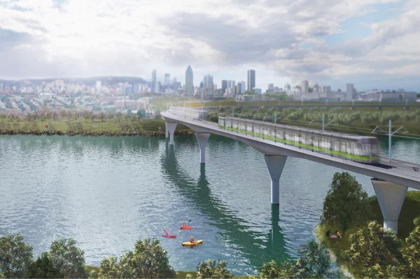 Le projet deRéseau express métropolitain (REM)... (PHOTO FOURNIE PAR LA CAISSE DE DÉPÔT)