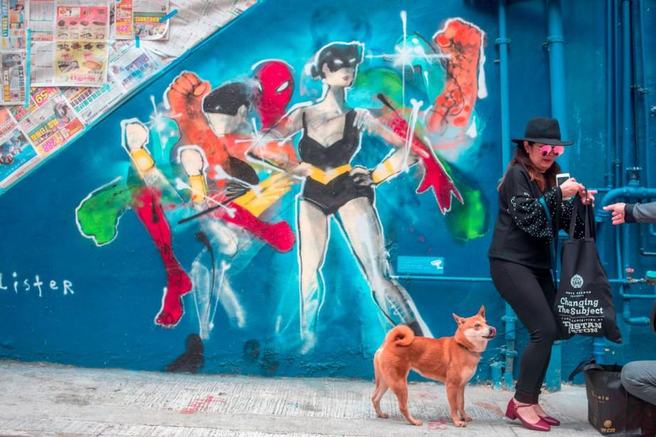 Une oeuvre de l'artiste de rue Anthony Lister.... (Photo AFP)
