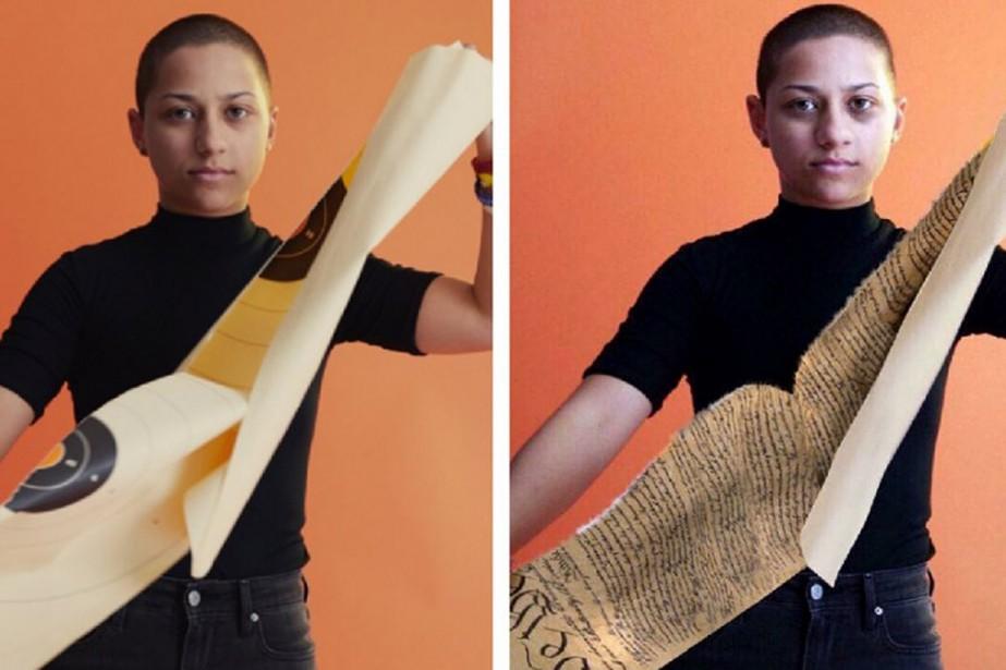 L'image d'Emma Gonzalez a été trafiquée à partir... (CAPTURE D'ÉCRAN)