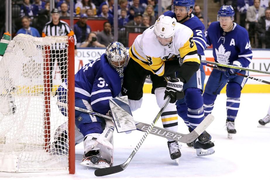 Le défenseur Brian Dumoulin, des Penguins de Pittsburgh,... (Photo Tom Szczerbowski, USA TODAY Sports)